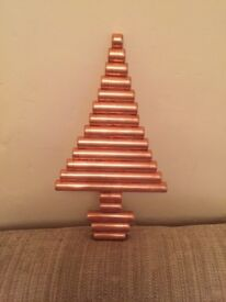 Copper pipe hand crafted Christmas collectibles
