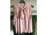 Pink work blouse