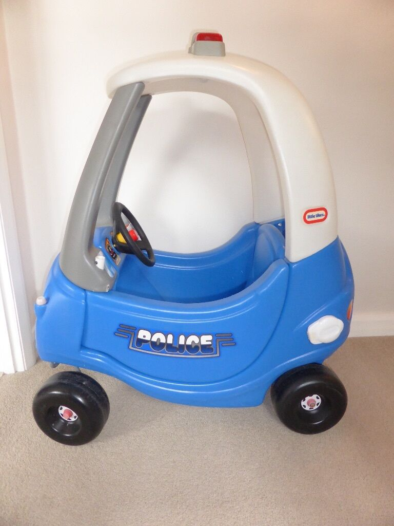 Little Tykes Cozy Coupe Police Car Blue And White In