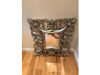 Wall Mirror in antique silver
