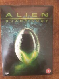 Alien Quadrilogy - 4 Alien Films on DVD - New and Unopened. Reduced.