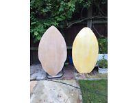 2 Plywood Skimboards