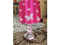 Pink butterfly lamp