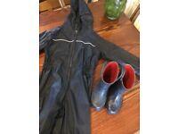 Regatta rain suit,next boots