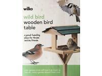 Bird table, feeder and seeds