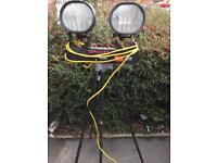 Twin head site lights