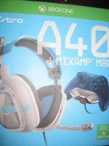 Astro Gaming A40 Stereo Gaming Headset for Xbox One with MIXAMP M80. Mic Missing. Game System Compute
