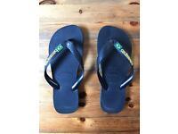 Havianas Brazil Logo Flip Flops - Black