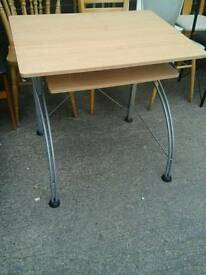 Small computer desk with curved legs