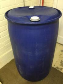 205 litre 45 gallon plastic drum barrel ideal allotment water butt storage etc
