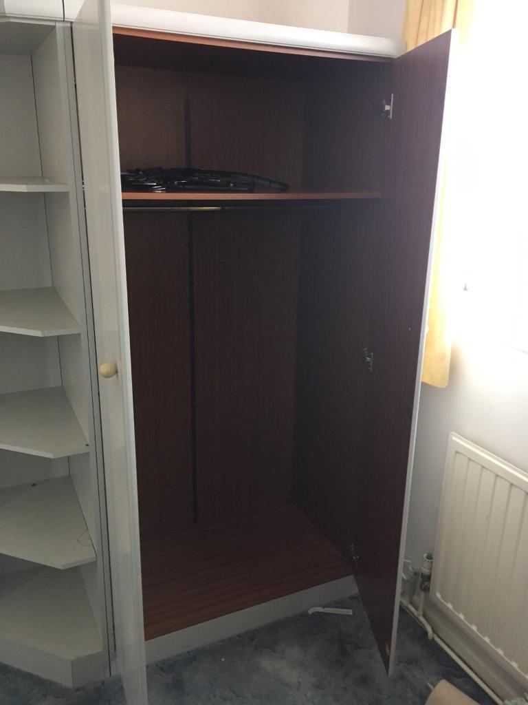 Wardrobe with shelving unit