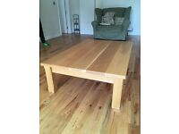 Hand made solid oak coffe table