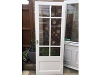 6 DOORS –WHITE 6 PANEL (ONE GLAZED) INCLUDING HANDLES AND HINGES