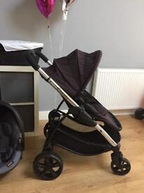 iCandy strawberry 2 pushchair and carrycot with extra car seat which fits to pram.