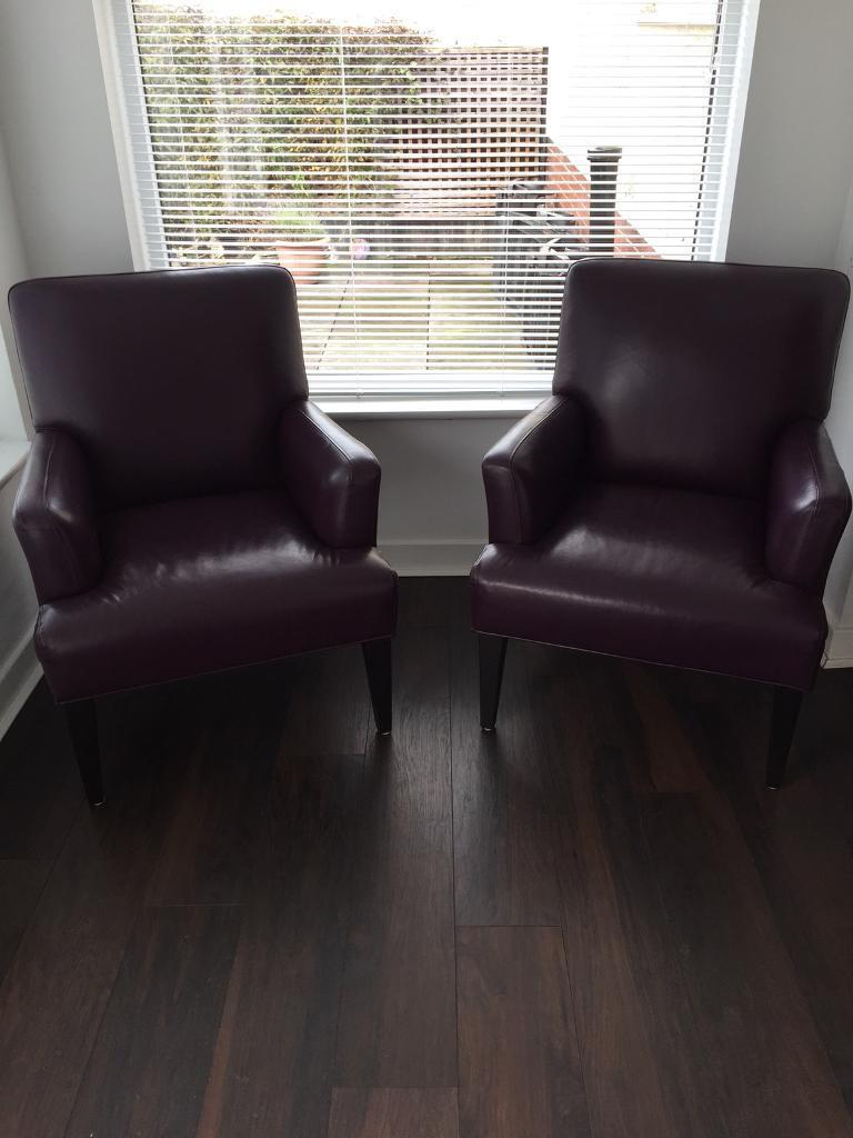 Marks and Spencer Leather Chairs x2