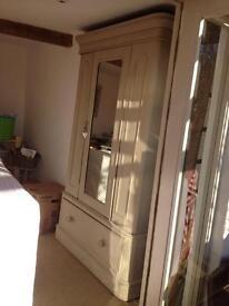 Gorgeous Painted Armoire wardrobe