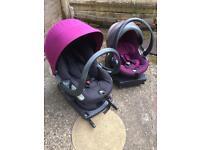 Stokke BeSafe iZi Go and iZi Sleep Baby Car Seat + ISOFix Bases
