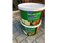 Wicks shed and fence paint - Golden Brown, 2 x 10 litres.