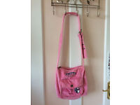 Girl's corduroy pink shoulder bag