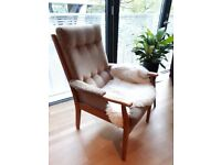 Mid century retro 60s/70s armchair, G Plan era Cintique chair, London British made vintage