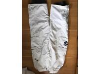 Ripcurl large white Ski Trousers