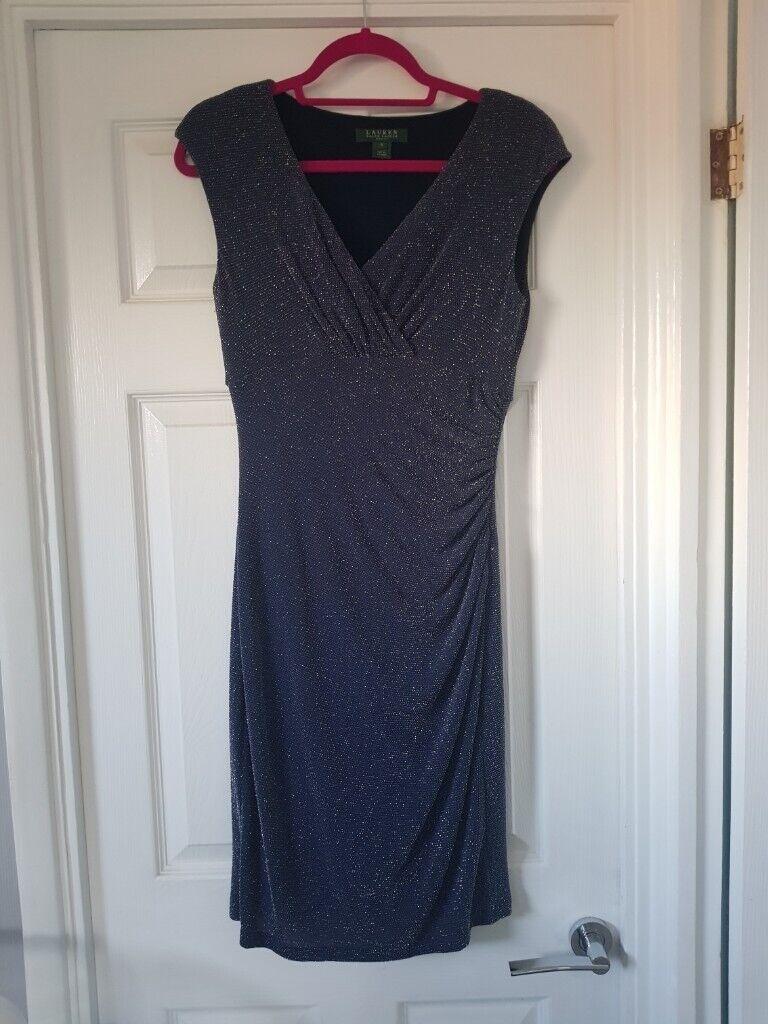 b1e3c7ac Size 10 - Navy blue sparkly Ralph Lauren Evening dress | in Exeter ...
