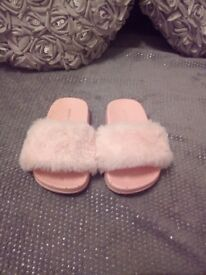 Fluffy flip flops