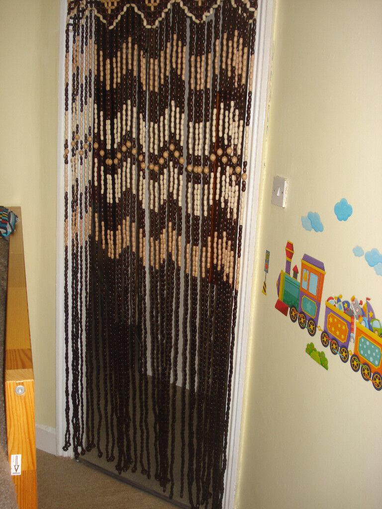Astounding Wooden Bead Door Curtain Pictures - Exterior ideas 3D ...