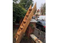 Wooden attic or mezzanine stairs/ladder