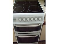 ceramic hob and double oven