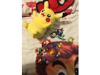 Pokemon figures and talking pikachu