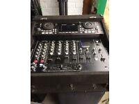 DJ mixer and MP3 player