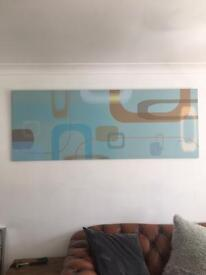 Canvas 79 inch x 29 designer on a board was £299