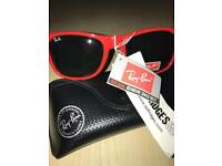 100% GENUINE RAY BAN RED SUNGLASSES