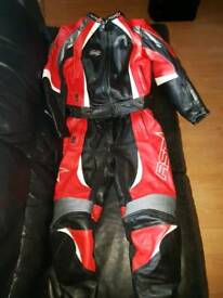Leather two piece suit