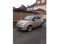 Fiat 500 Lounge Automatic, New Age Cream, low mileage!