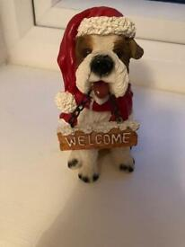 Terrier ornament 'welcome'