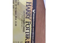 1 ticket for Harry Potter and the cursed child both parts on Sunday 2nd october