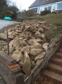 Sussex sandstone rocks, all different sizes