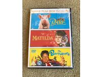 BRAND NEW & SEALED 3 FILM BOXSET MATILDA, BABE & THE BORROWERS GREAT FOR CHILDREN