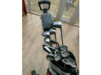 Ping G5 golf clubs black dot right hand & pawkaddy bag & trolley