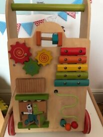 Wooden Baby walker and activity centre