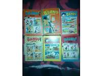 Vintage comic annuals.