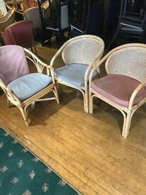 Free wicker bucket style chairs