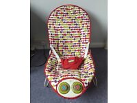 Mamas and Papas baby bouncer chair with battery operated music and bounce. Marston. Can deliver.