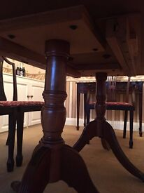 Solid wood traditional dining table