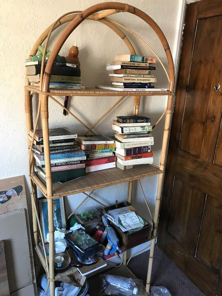 Bamboo Wicker Bookshelf