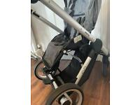 Mutsy Evo Urban Nomad stroller set with baby bassinet/all attachments/all rain covers/footcosy