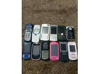 **MOBILE PHONES JOBLOT OF 12 ONLY £40**