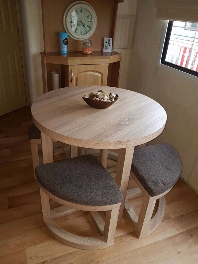 Static Caravan Dining Table Chairs In Kidsgrove